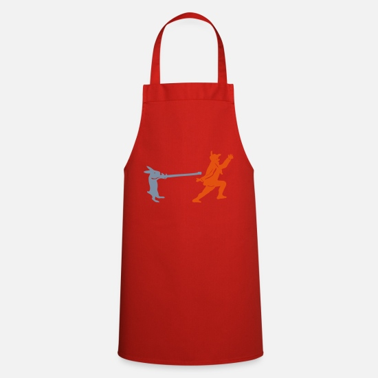 Raider Aprons - Hare hunts hunters - Apron red