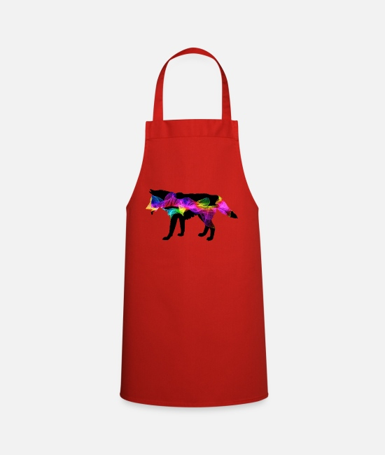 Nature Aprons - Wolf spirit - Apron red