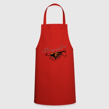 First violin, violins music logo - Cooking Apron