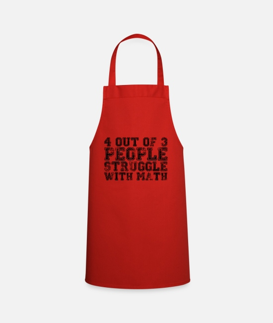 Funny Phrases Aprons - 4 out of 3... - Apron red