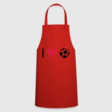 I love football love - Cooking Apron