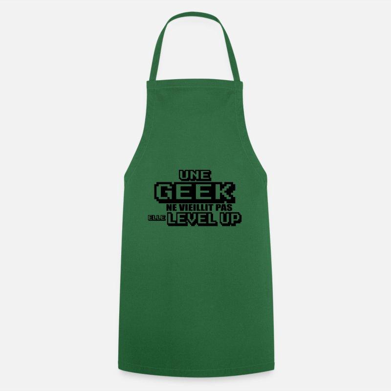 Spreadshirt Un Geek Ne Vieillit Pas Tablier