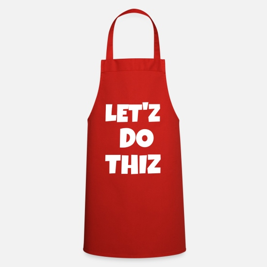Writing Aprons - text - Apron red