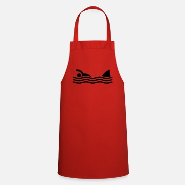 Cool swimmer with shark - Apron