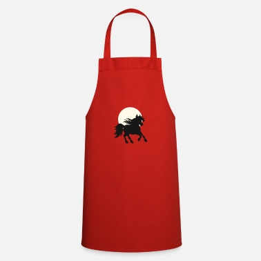 Horse Fan Horse in the sunset - gallop - horse fans - Apron