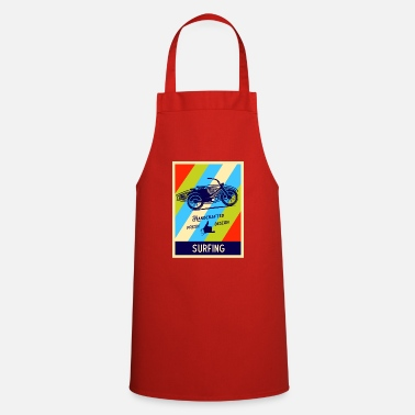 Retro surfing surfer - Cooking Apron