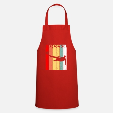 Soccer Ball Soccer Player Soccer Ball Retro - Cooking Apron