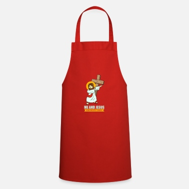 Cool Christian Jesus Dabbing Faith funny picture Christian cool - Cooking Apron