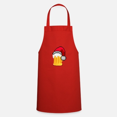 Pixel A Christmas beer - Cooking Apron