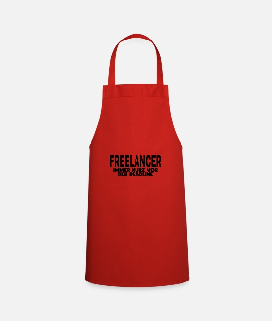 Freelancer Aprons - freelancer - Apron red
