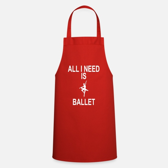 Pirouette Aprons - EVERYTHING I NEED IS BALLET - Apron red