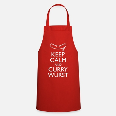 Curry Keep Calm an Curry Wurst Tops - Cooking Apron