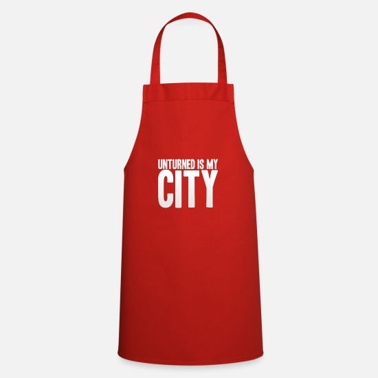 City Aprons - Unturned is my city - Apron red