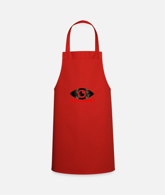 Fold Aprons - Real Eyes Realize Real read - Apron red