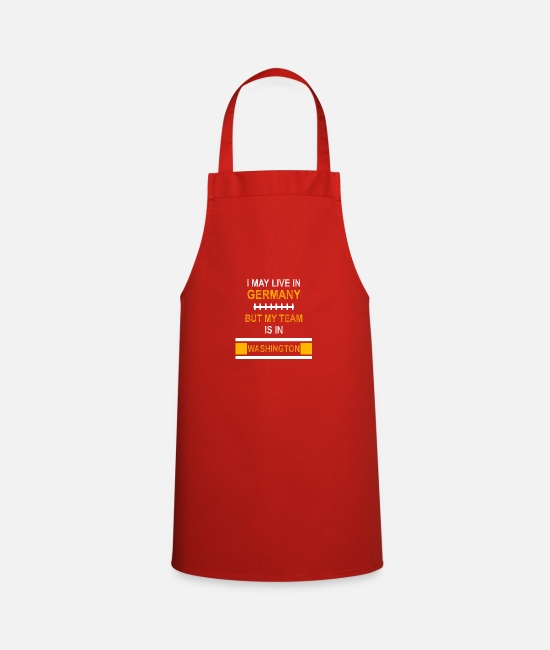 Touch Down Aprons - My team is in Washington | Football team fan design - Apron red