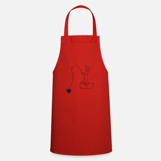 Cloud Aprons - Fisherman / Heart - Apron red