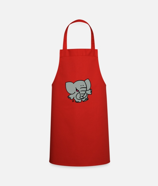 Graphics Aprons - Little Elephant by Cheerful Madness!! - Apron red