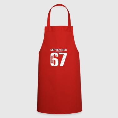 September 1967 Jersey Number - Cooking Apron