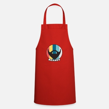 Mustache Beard vintage beards full beard oil care gift - Apron