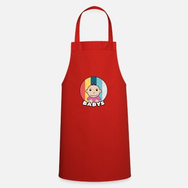 Brother Baby Vintage Mother Daughter Child Baby Gift - Apron