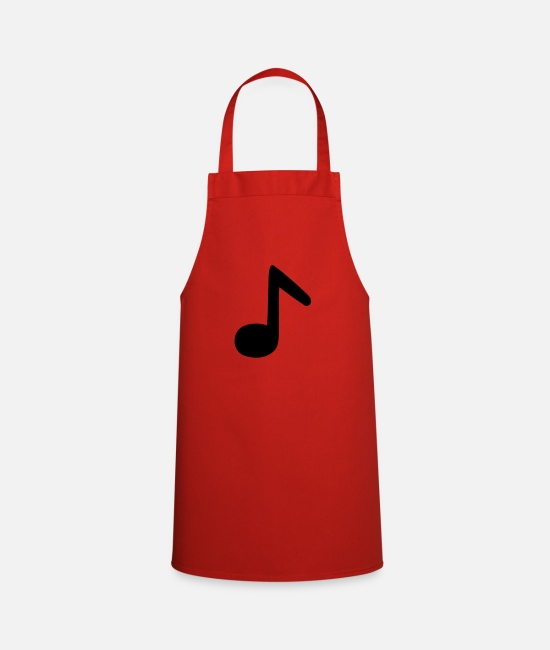 Guitar Aprons - eighth note - Apron red