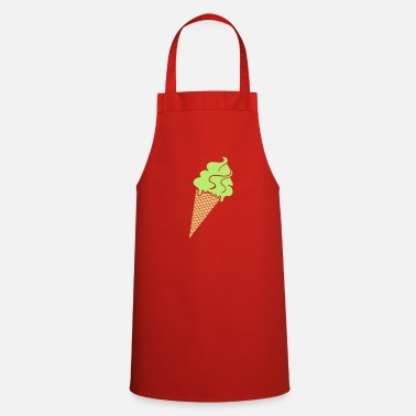 Ice Ice cream and ice cream cone - Cooking Apron
