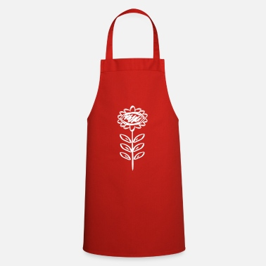 Decorated floral decoration - Cooking Apron