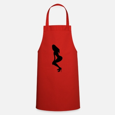 Long Underwear ۞»♥Vector Sexy Wasp-waisted woman on Stilettos♥ - Apron
