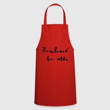 Freedom for all - Caligraphy - Cooking Apron
