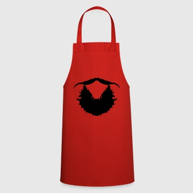 beard mustache hipster 1810 - Cooking Apron