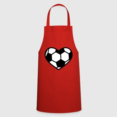 coeur de football - Tablier de cuisine