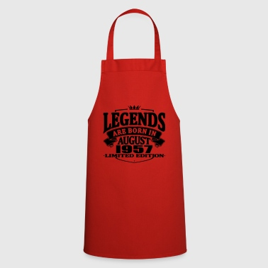 Legends are born in august 1957 - Cooking Apron
