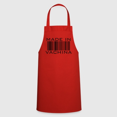 made in vachina - barcode funny saying gift - Cooking Apron