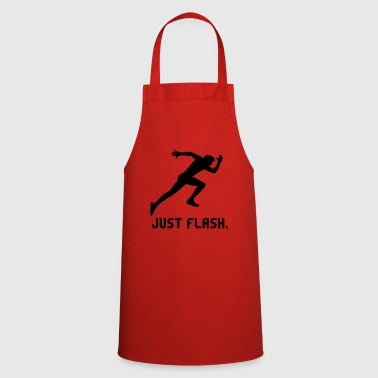 Just Flash athlete athlete sprinting run - Cooking Apron