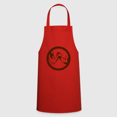 arm wrestling arm iron logo16 - Cooking Apron
