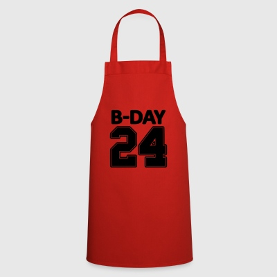 24 number number for the 24th birthday football jersey - Cooking Apron