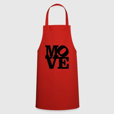 move Homage to Robert Indiana move black inside - Cooking Apron