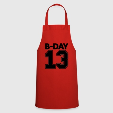 13th birthday bday 13 number numbers number jersey - Cooking Apron