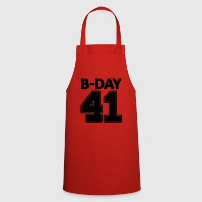 Number 41 years 41st birthday number number numbers - Cooking Apron
