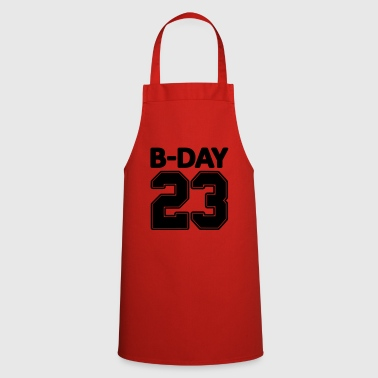 23rd birthday bday 23 number numbers jersey number - Cooking Apron