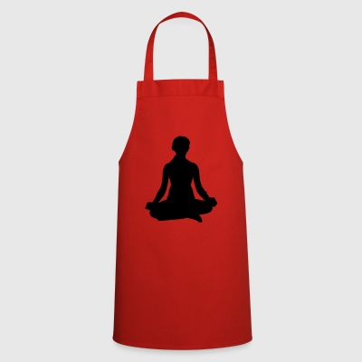 Yoga meditating woman - Cooking Apron