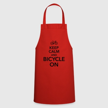 keep calm and bicycle on bicycle saddle - Cooking Apron