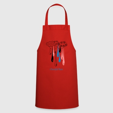 colored rain - Cooking Apron