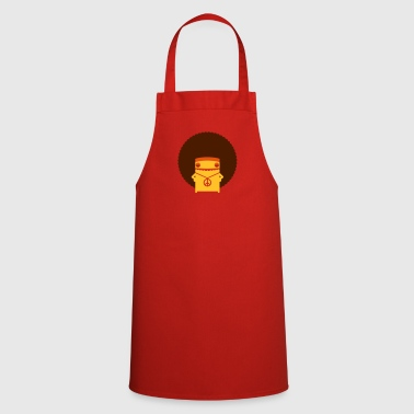 A Hippie With An Afro - Cooking Apron