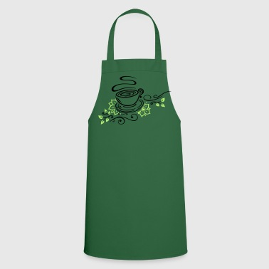 Tea, tea cup, tea time, cherry blossoms - Cooking Apron