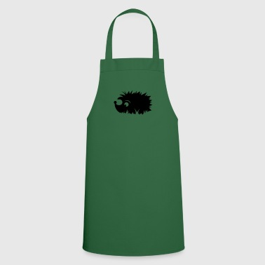 A hedgehog is sitting in a meadow - Cooking Apron