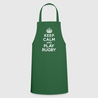 Keep calm play Rugby - Tablier de cuisine