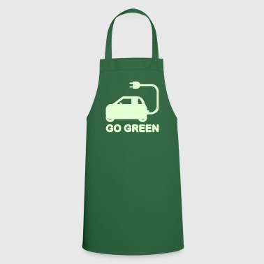 GO GREEN ~ DRIVE ELECTRIC CARS - Cooking Apron