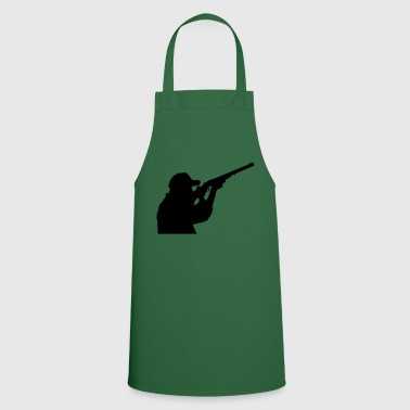 Hunter with rifle - Cooking Apron