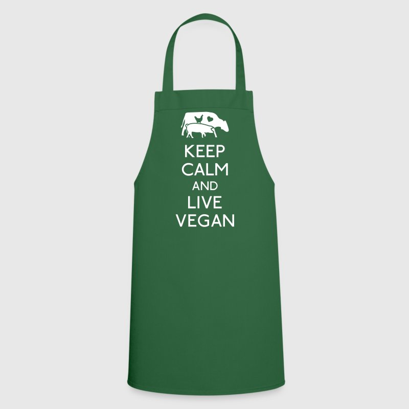 Keep Calm live vegan - Tablier de cuisine